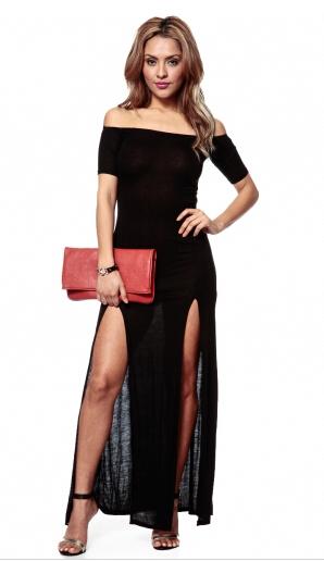 off the shoulder maxi dress,off shoulder maxi dress,black maxi dress