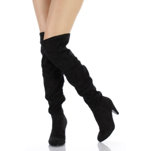 over the knee chunky heel boots-2